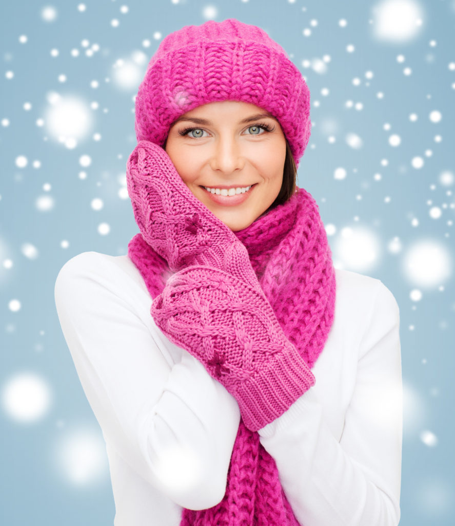 Woman wearing winter clothes